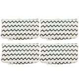 ANBOO Steam Mop Pads Replacement for Shark S1000A Reusable Duster Washable Cleaning Pads Microfiber Vacuum Cloth Pads Vacuum Cleaner Accessories 4pcs