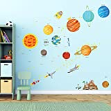Decowall, DA-1501, The Solar System peel & stick Nursery wall decals stickers