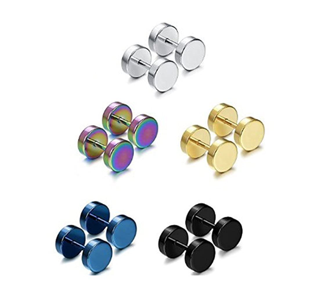 Earrings Plug Earring Acrylic Stainless or Steel Flesh Plug Stretcher Ear Stud Punk Style