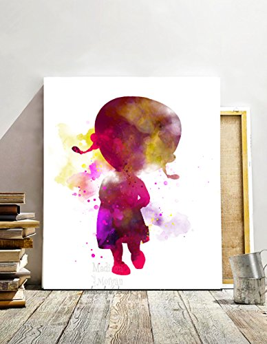 Nursery Decor- Doc McStuffins - Baby Room Decor Ideas - Doc McStuffins Watercolor Disney Inspired Cartoon Art Poster Baby Girl Nursery Art Unframed Printed on Archival Matte Premium Photo Paper ()