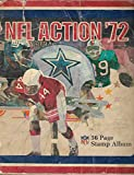 1972 Sunoco NFL Action Stamps Album With 143