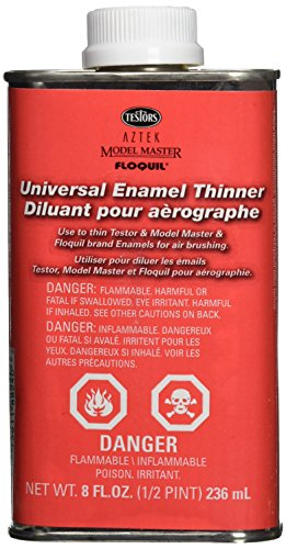 Testors Enamel Airbrush Thinner, 8-Ounce