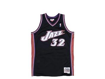 Mitchell & Ness – Karl Malone – Utah Jazz Swingman Jersey Camiseta – Negro – NBA