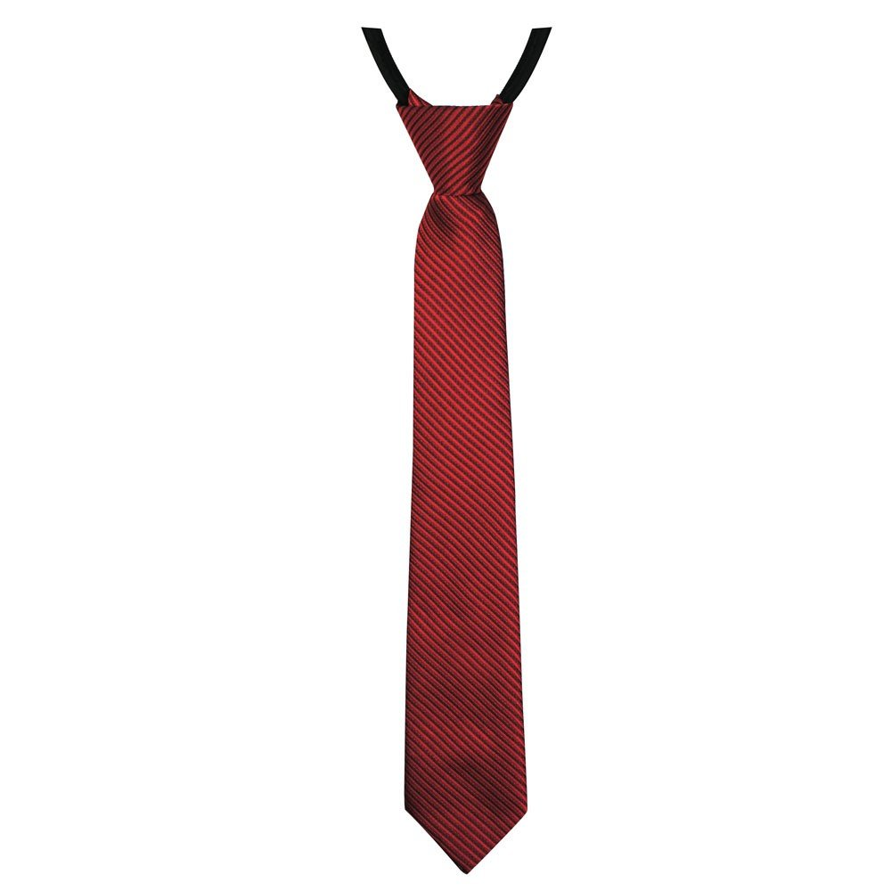 Soul-Cats® gestreifte Jungen / Kinder Krawatte 30cm lang, vorgebunden und verstellbar, Farbe: rot SoulCats
