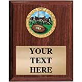 Rugby Plaques - 5x7 Customized Rugby Sports Trophy Plaque