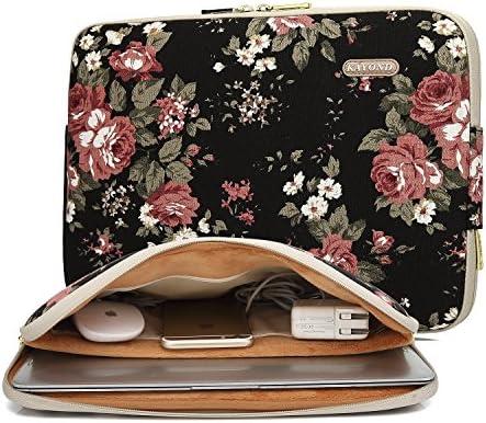 kayond Water Resistant Canvas Laptop Sleeve Black