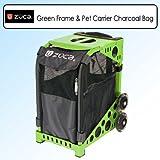 Zuca Sport Kit Green Frame & Pet Carrier Bag Charcoal PIBC204