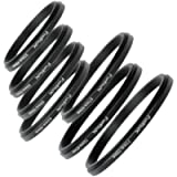 Fotodiox 04srset7749 7 Metal Step-Down Ring Set, Anodized Black Metal, 77-72mm, 72-67mm, 67-62mm, 62-58mm, 58-55mm, 55…