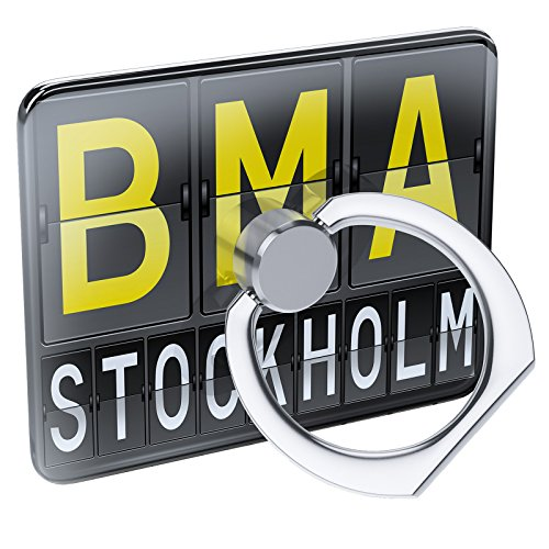 Cell Phone Ring Holder BMA Airport Code Stockholm Collapsible Grip & Stand  Neonblond