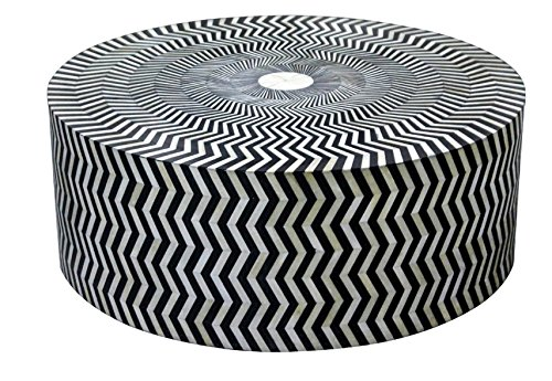 Bone Inlay Modern Antique Handmade Coffee Table