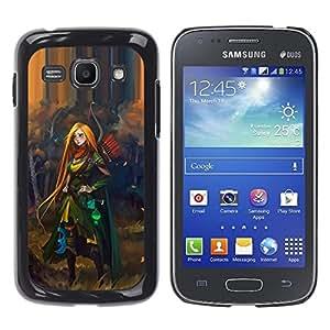 FlareStar Colour Printing Redhead Hero Woman Adventure Kids cáscara Funda Case Caso de plástico para Samsung Galaxy Ace 3 III / GT-S7270 / GT-S7275 / GT-S7272