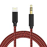 Zulpunur Aux Cord for iPhone,3.5mm Aux Cable for iPhone 7/X/8/8 Plus/XS/XR to Car Stereo or Speaker or Headphone Adapter, Support The Newest iOS 12 Version or Above