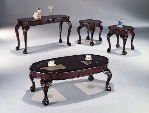 Brand New 3-pk Queen Ann Coffee Table and End Tables Cocktail set Cherry Finish