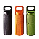 PPFISH Military Grade Air-tight EDC Accessory Case, Waterproof Pill Fob Capsule/match Case Battery Holder Case, Outdoor Survival Storage Container Dry Box (pack of 3) (3 Large)