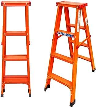 Casa 4-5 Escalera plegable, doble de acero de construcción de escalera de tijera Ingeniería Escalera material espesante Escalera - Diseño plegable - Engrosado (Color : Orange, Size : 74 * 113cm): Amazon.es: Bricolaje y herramientas