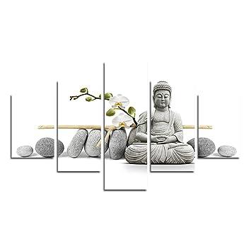 Swmart Bouddha Avec Pierre Zen Photos Impressions Photo Sur