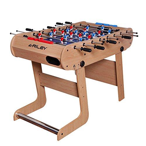 Riley FFT13-4LN - Babyfoot Pliable - Table de Baby (Kicker Rangement Facile) - Bois Naturel Design BCE