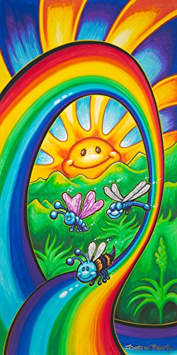 Happy Rainbow Ride - Bright and Colorful Wall Art for Kids and B