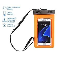 Waterproof Case,Asstar Universal Waterproof Case for Apple iPhone 6S, 6, 6S Plus, 5S, Galaxy S7, S6 Note 5, HTC, LG, Motorola up to 5.5 inch and Card, Passport, Wallet (Orange)