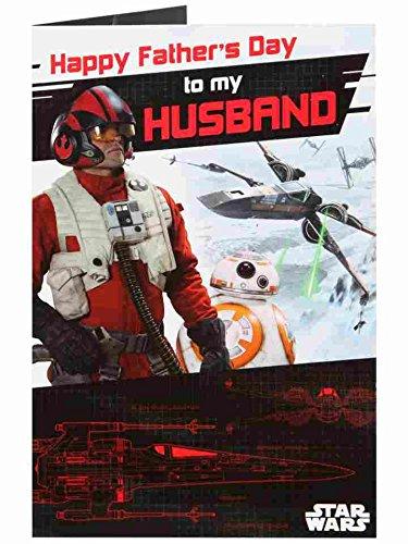 Disney Star War's Husband Pop Up - Father's Day New Uk Greetings Modern Card (Disney Star)