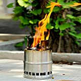 FAMI Camping Stove,Wood Stove,Portable Backpacking Stove,Portable Wood Burning Camping Stove,Collaspisble Lightweight Compact Stove for Outdoor Backpacking Hiking Traveling Picnic BBQ Climbing Fishing