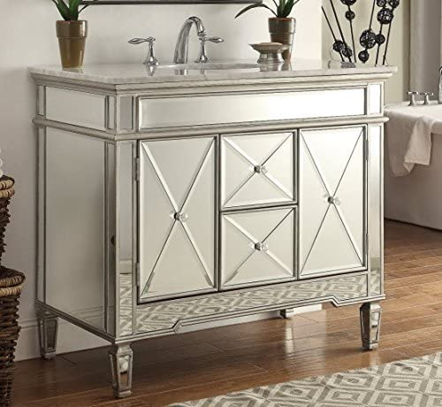 40 All-Mirrored Reflection Adelia Bathroom Sink Vanity Model DH-13Q322