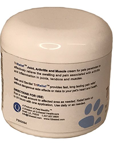 Image of TriRelief for Arthritis, Joint Pains in Pets Pain Relief Cream- 4 Oz