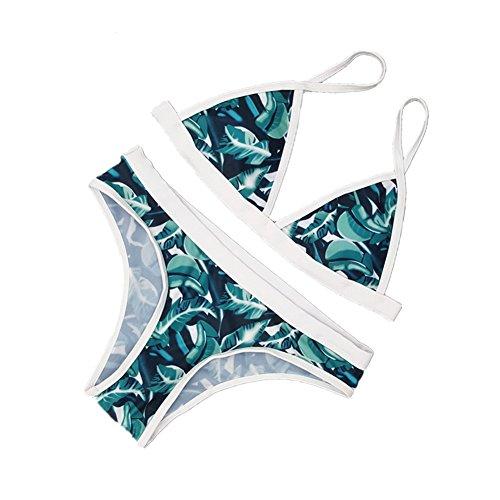 Bagno DELEY Bikini Costume Verde Spiaggia Donne Foglia Da Sport Stampa Di Costumi Estate Da Verde Bagno Brasiliana 4Z4wrq1