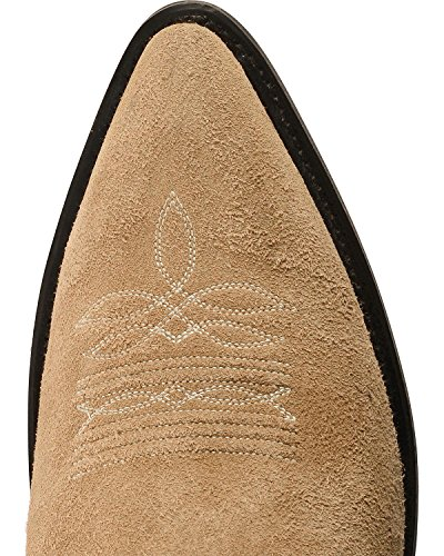 Oud Western Mens Roughout Suede Cowboy Boot Natural