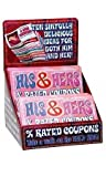 Gift Set Of His and Hers XRated Coupons 36 piece display And one package of T...