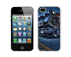 Popular Sell Christmas City Locomotive Railway White iPhone 4 4S Case 1