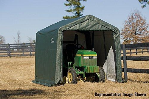 ShelterLogic 72804 Green 10'x8'x8' Peak Style Shelter
