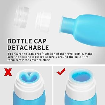 Amazon.com: Botellas de viaje aprobadas por la TSA ...