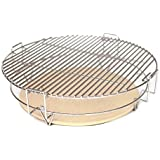 Aura Outdoor Products Pro-Zone Cooking System for Big Green Egg, Kamado Joe, and other Kamado Cookers