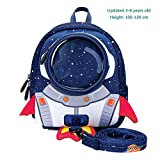 TOOSD School Backpack 3-6 Years Old Kindergarten Bag Children Boys And Girls Baby Anti-Lost Rocket Backpack,A,27.5 * 22 * 11