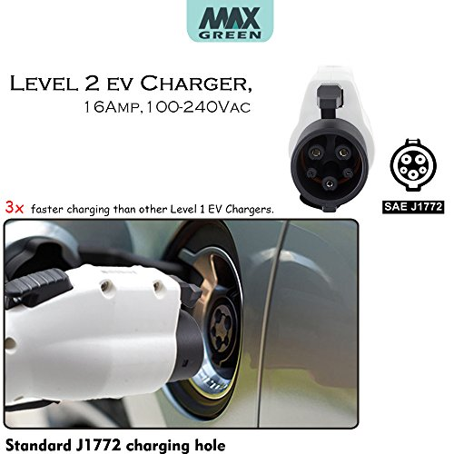 Maxgreen Level 2 EV Charger, Electric Vehicle Charger (16A,240V 23FT) with NEMA6-20 Plug, Fast EV Home Charging Station, Compatible with Chevy Volt, Prius Prime, Fusion Energi by Maxgreen (Image #6)
