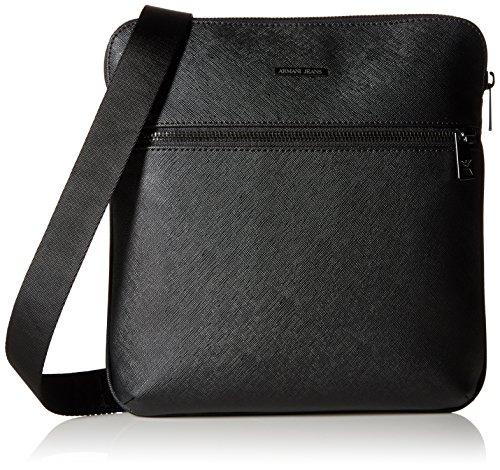 Armani Jeans Men's Saffiano Embossed Medium Shouer Bag, - Armani Men Bag