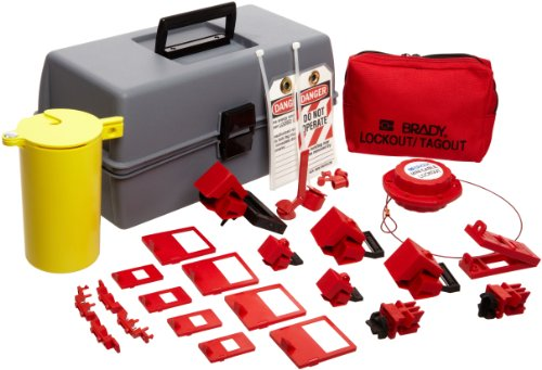 Brady Electrical Lockout Toolbox Kit, Includes Safety Padlocks and Tags by Brady