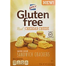 Lance Gluten Free Sandwich Crackers, Cheddar Cheese, 4 Count (Pack of 4)