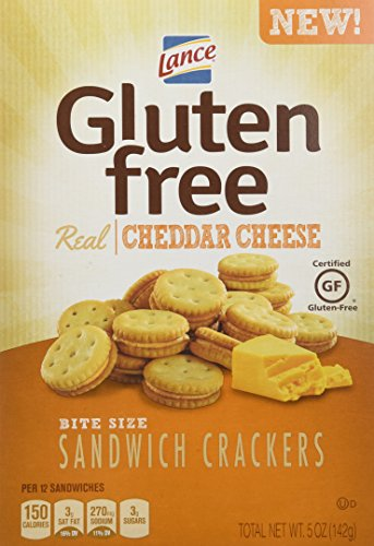 Lance Gluten Free Sandwich Crackers, Cheddar Cheese, 5 Oz (Pack of 4)