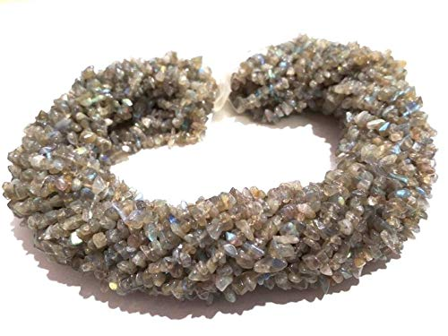 "Labradorite Chip Beads 16/"" Strand High Grade Nice Flash!"