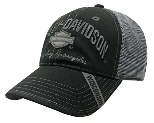 Harley-Davidson Men's Baseball Cap, H-D Bar & Shield Mesh Hat, Black (Shield Cap)