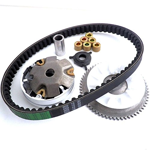 GY6 49 50 Clutch Variator FAN Drive Belt Chinese Scooter Moped 139QMB Parts (Galaxy Glow Mini Golf)