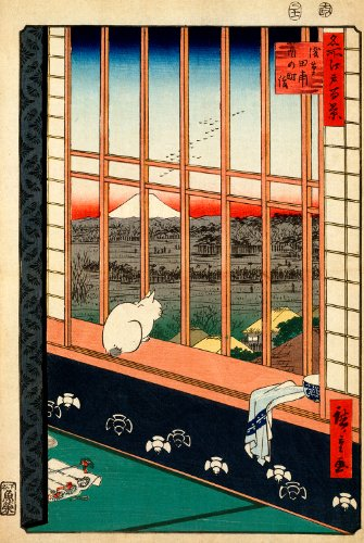 "Utagawa Ando Hiroshige : ""Asakusa Ricefields and Torinomachi Festival"" (One Hundred Famous Views of Edo, 1857) — Giclee Fine Art Print"