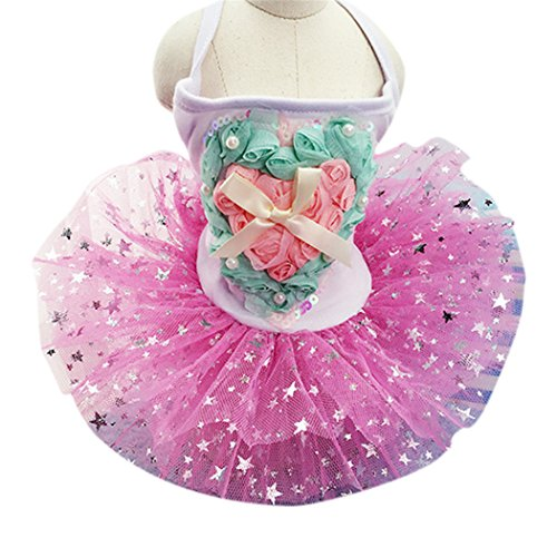 [Prettysell Pretty Summer Sweet Puppy Dog Pet Dress Skirt Dogs Princess Dresses Pet Coat Apparel] (Cute Female Dog Costumes)