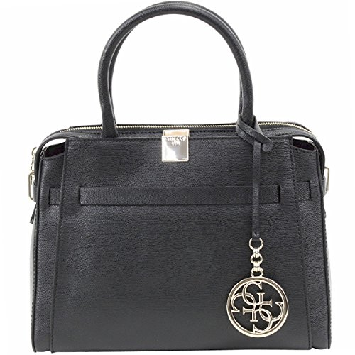 Guess Women's Christy Top Zip Black Girlfriend Satchel Handbag