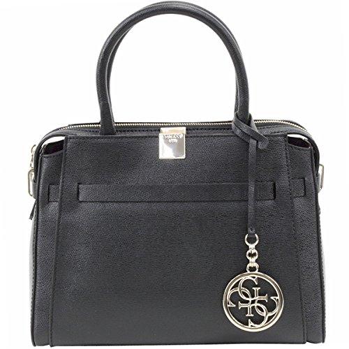 (Guess Women's Christy Top Zip Black Girlfriend Satchel Handbag )