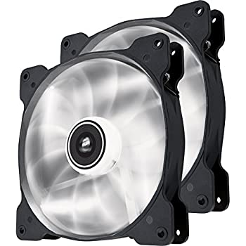 Corsair Air Series SP 140 LED White High Static Pressure Fan Cooling - twin pack