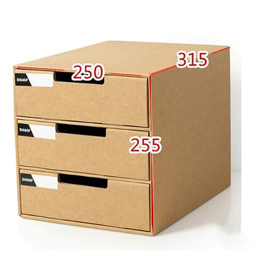 DHWOP Caja de Almacenamiento de Escritorio A4 de múltiples Capas ...