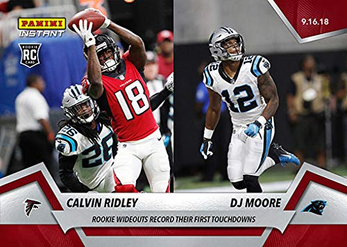Amazon.com  2018 Panini Instant NFL Football  24 Calvin Ridley DJ Moore RC  Rookie Atlanta Falcons Carolina Panthers Official Trading Card Online  Exclusive  ... fc4bda51a